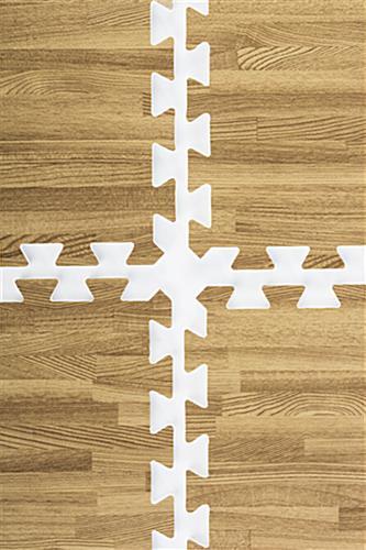 Light Oak Wood Grain Floor Mats 25 Pieces Make 10 X 10 Floor