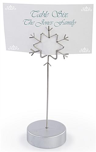 Snow Flake Placecard Holder