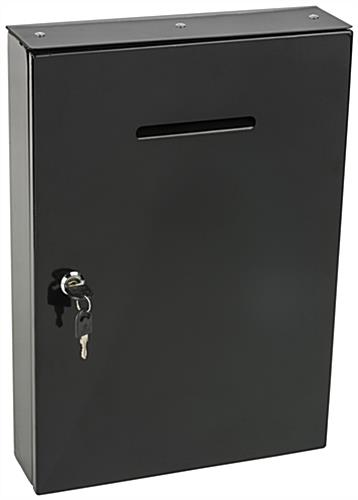 Wall Mounting Drop Box - Black