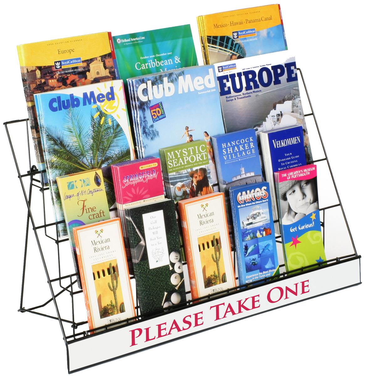 """Displays2go 4-Tiered 29"""" Wire Display Rack for Tabletops,..."""