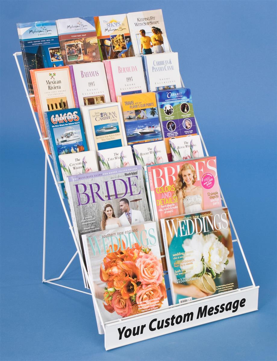 """Displays2go 6-Tiered 18""""w Wire Display Rack for Tabletops..."""