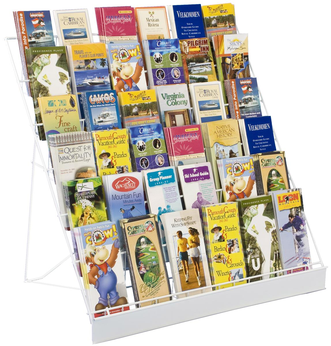 """Displays2go 6-Tiered 29"""" Wire Display Rack for Tabletops,..."""