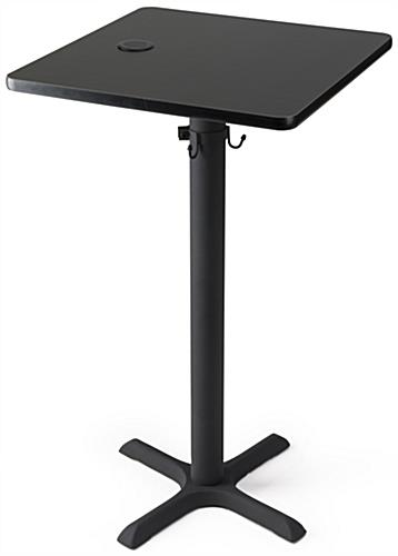 Black wireless cocktail charging table