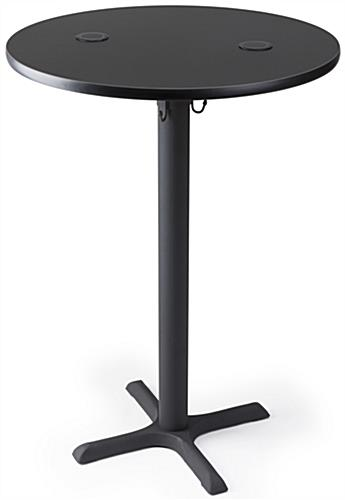 Black wireless charging tall round table