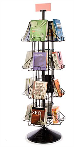 Revolving Book Racks 16 Pocket Floor Standing Display