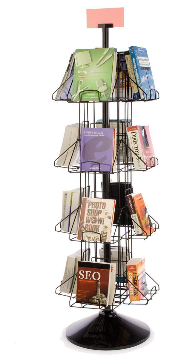 Revolving Book Racks 16 Pocket Floor Standing Display