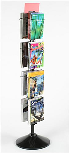 Spinning Magazine Amp Literature Rack Full View Open Front