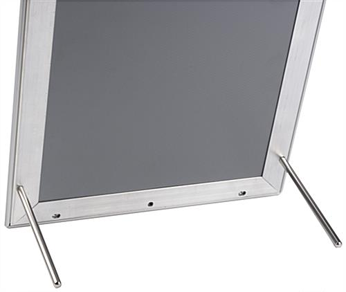 8.5 x 11 Silver Snap Sign Frame with Pegs