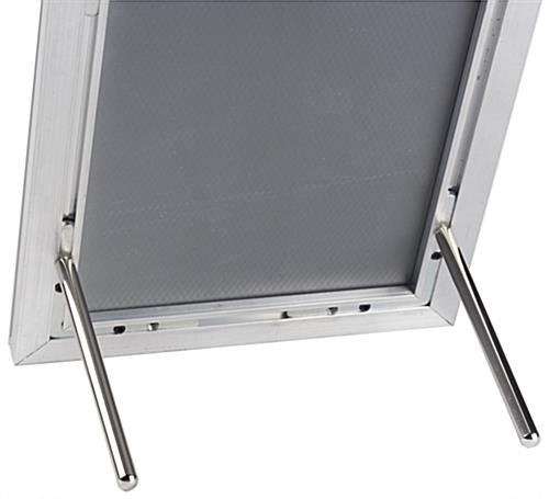 5 x 7 Silver Quick Snap Frame with Chrome Pegs