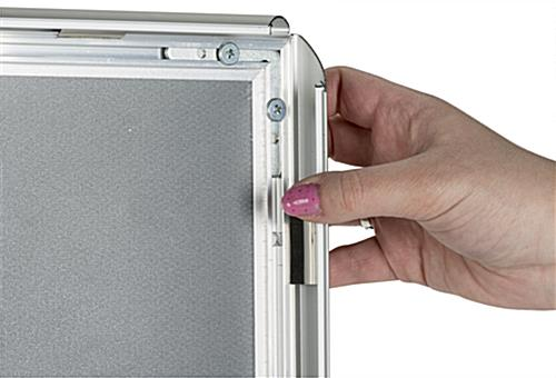 8.5 x 11 Silver Snap Sign Frame with Shatterproof Lens