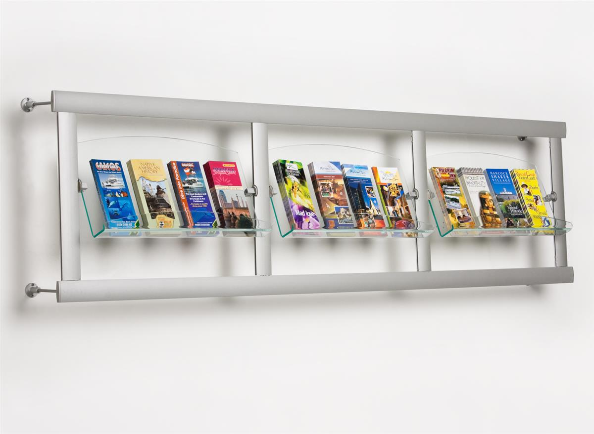Literature Racks Wall Mounted Pamphlet Holder W Dividers