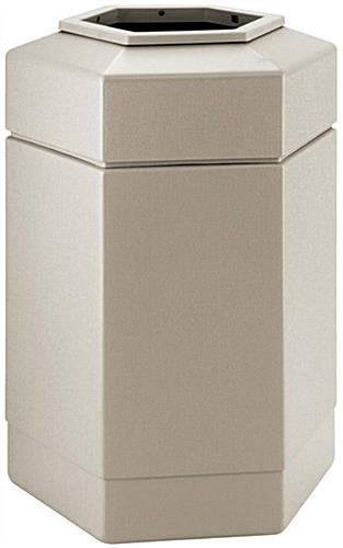 Outdoor Beige Waste Receptacle
