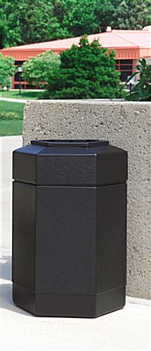 Weather Resistant Outdoor Black Waste Receptacle