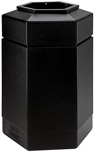 Outdoor Black Waste Receptacle