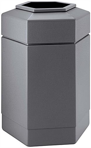 Plastic Gray Waste Receptacle