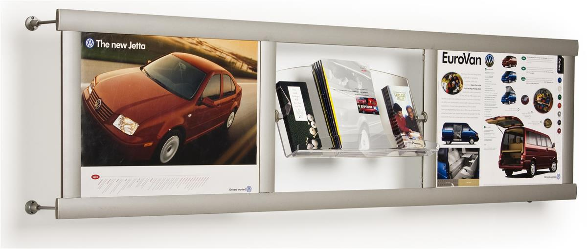 This Leaflet Holder Is A Versatile Wall Fixture Each Silver