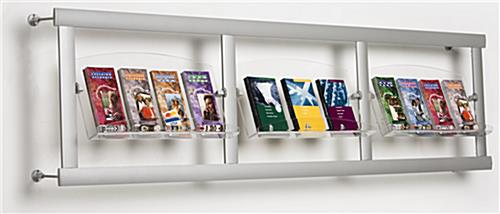 These Brochure Displays Have 3 Sections Stylish Silver