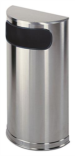 Commercial stainless steel trash can
