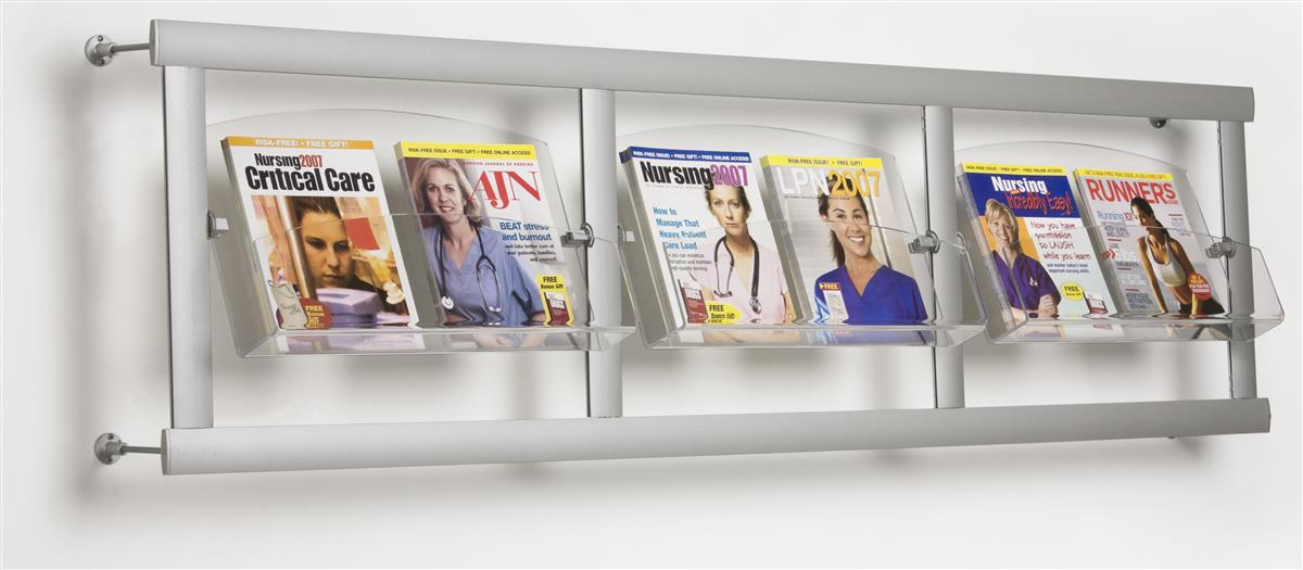 The Magazine Rack Has 3 Acrylic Pockets To Fit Many