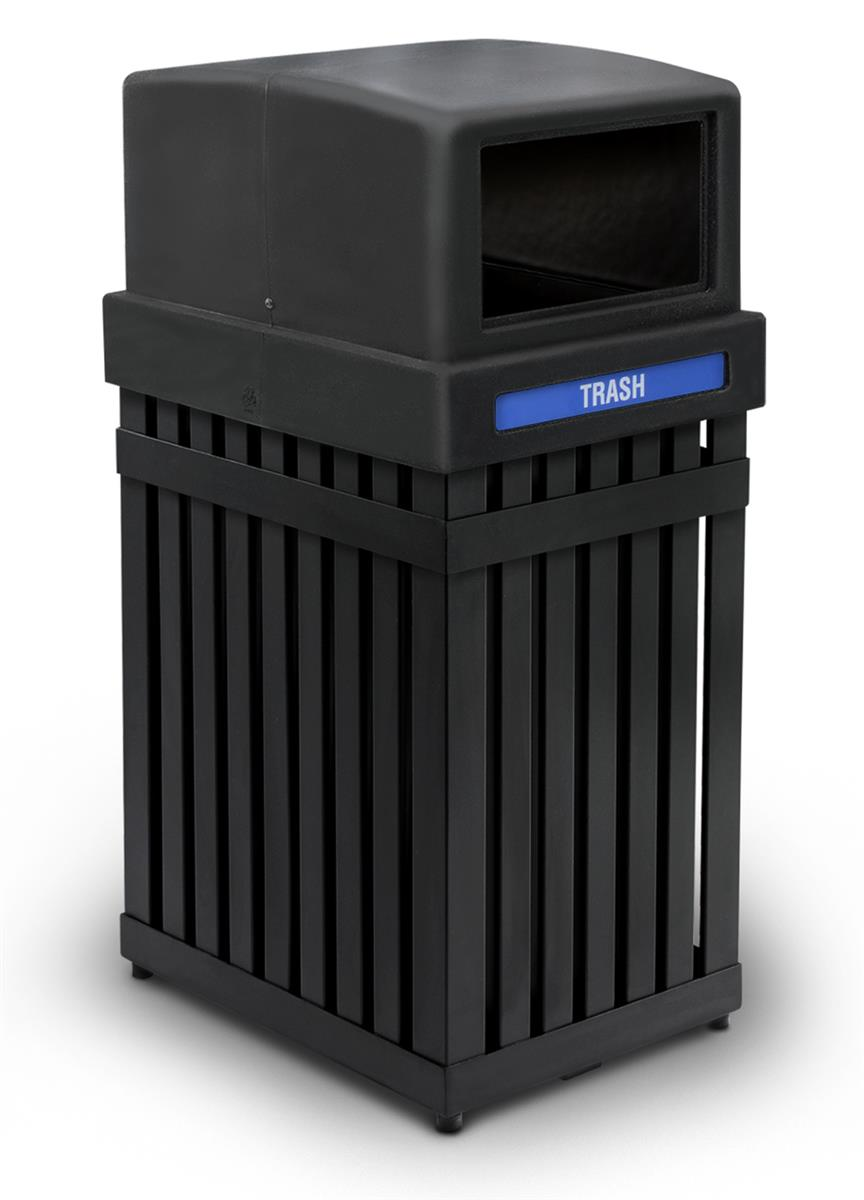 Outdoor Trash Can Commercial Steel Amp Plastic Construction