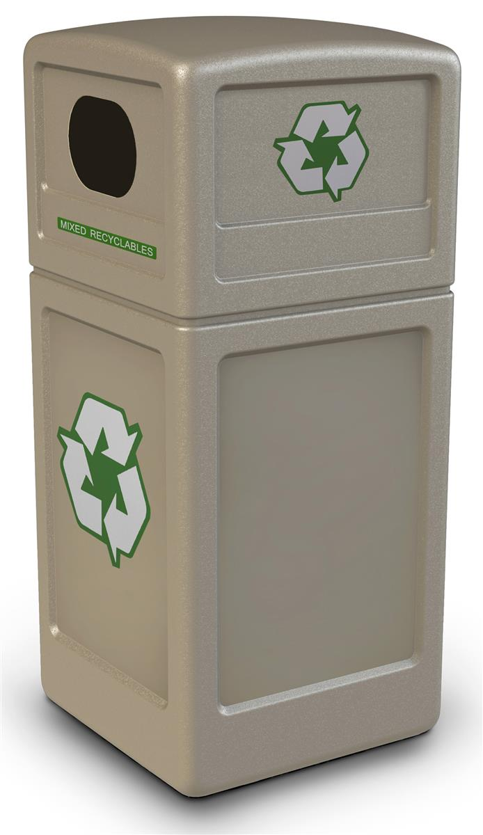 Commercial Trash Bin Sizes : Square commercial waste bin dome lid