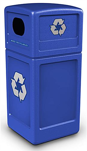42 Gallon Dome Lid Recycling Bin