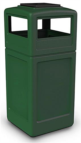 Commercial Trash Bin Sizes : Commercial garbage bin snap closing ashtray lid