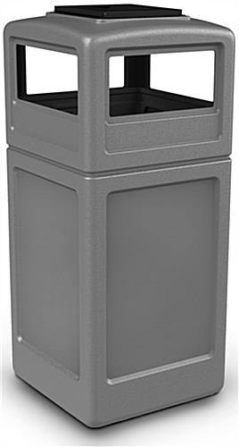 Gray Trash Can with Ash Tray & Top