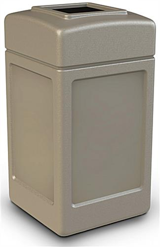 Outdoor Beige Waste Container