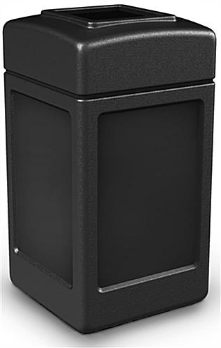 Black Waste Container with 42 Gallon Capacity