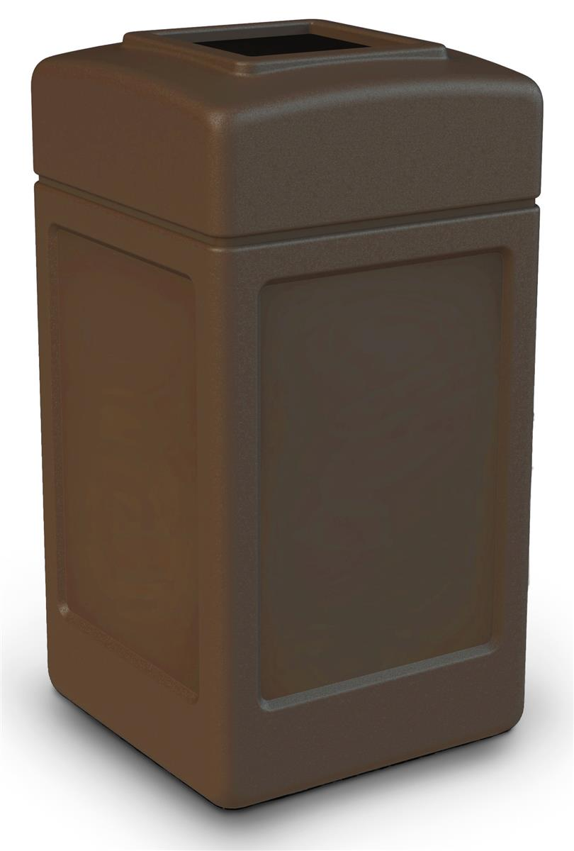 Commercial Trash Can Brown With Open Top