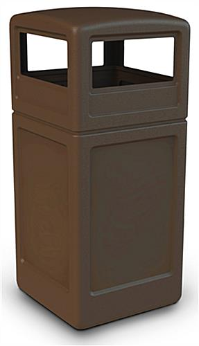 Brown 42 Gallon Trash Bin