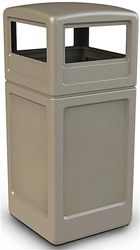 42 Gallon Beige Trash Container