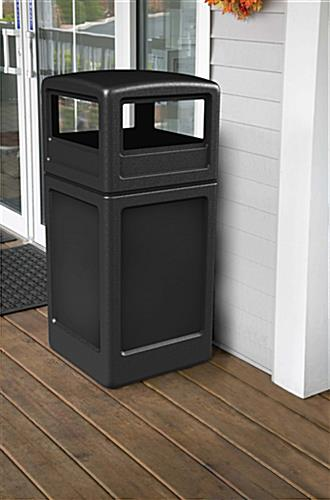 Plastic Black Trash Container