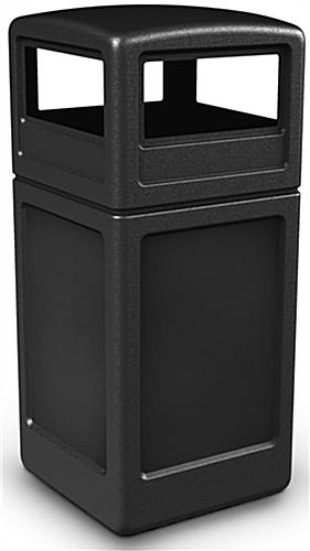 Outdoor Black Trash Container