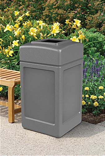 Square Gray Waste Container
