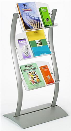 Leaflet Display: Wave Stand w/ Literature Pockets