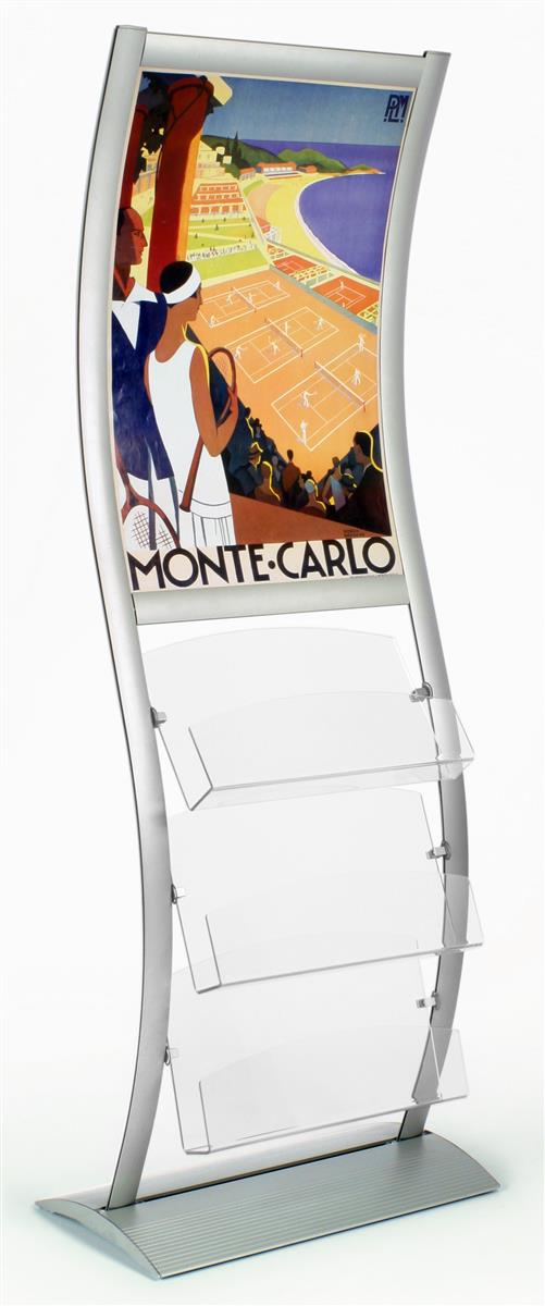 Wave Stand 24 X 36 Poster Frame For Floor W Acrylic Pockets