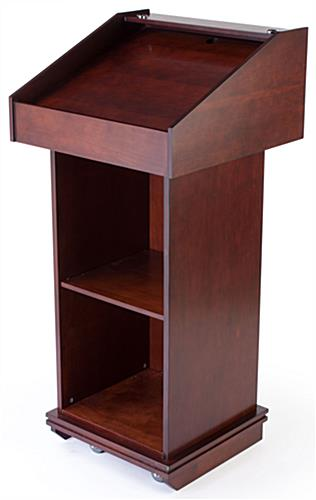 Wood Lectern, Red Mahogany Finish