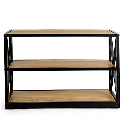 3-tier natural colored french industrial console shelf