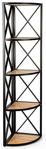 Bohemian modern 5-shelf rustic corner display rack