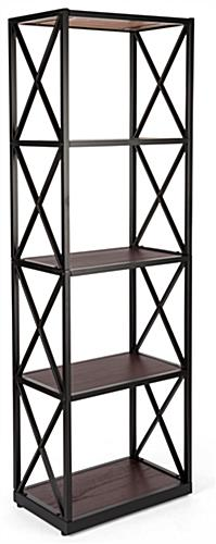 Contemporary 5-tier industrial rustic shelving unit