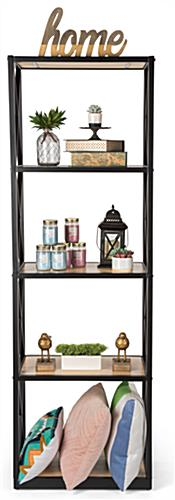 Tall industrial rustic 5-tier shelving unit