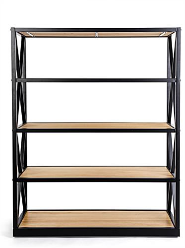 5-tier engineers industrial bookcase shelves