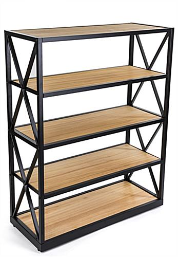 farmhouse-inspired engineers industrial bookcase shelves