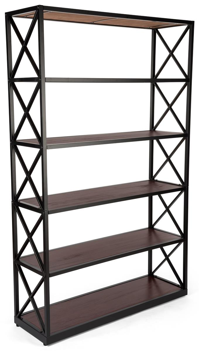 Etagere X Shelves Paulownia Wood With Dark Brown Stain