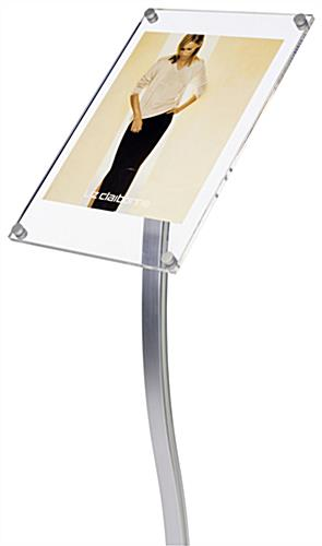 "Sign Stand: Silver w/ 11"" x 17"" Sign Holder"
