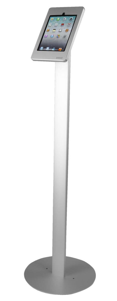 Displays2go iPad Floor Stand w/ Locking Enclosure, Tiltin...