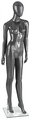 Abstract Silver Female Mannequin