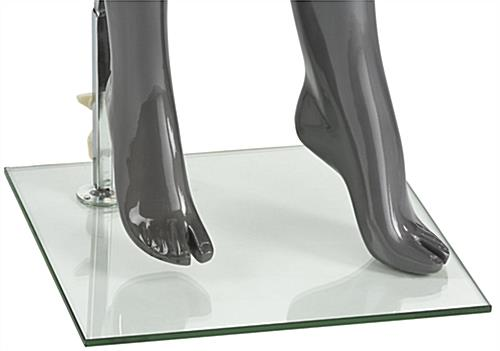 Silver Female Mannequin with Accented Feet